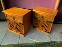 Pine lattice front locker