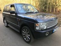 Land Rover Range Rover Vogue TD6 2926cc Turbo Diesel Automatic 4x4 Estate 54 Plate 30/09/2004 Blue