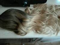 Ombre human hair wig never used brown/blonde