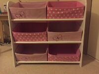 Children's storage in pink