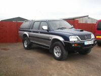 mitsubishi l200 trojan double cab 5 seater with rear canopy