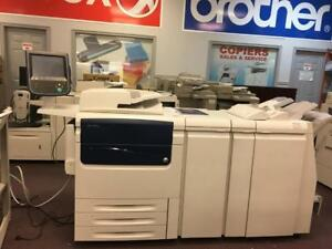 REPOSSESSED Xerox C75 Press color Production Printer Copier with Finisher with C/Z Folder High speed Quality 12x18 13x19