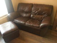 2 Seater Sofa, Armchair & Footstool