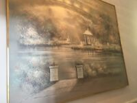 Large oil painting excellent condition