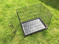 "24"" single door folding dog crate"