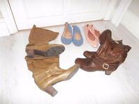 Size 7 Woman's Shoe bundle - 4 pairs - Boots and Flats