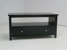 BRAND NEW AND BOXED HENLEY BLACK WOODEN TV CABINET WITH SHELF & 1 DRAWER STAND MEDIA UNIT DVD TABLE