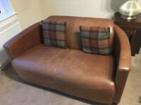 3 & 2 seat leather couch w/armchair