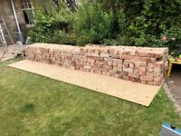 Reclaimed red clay bricks