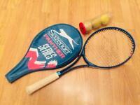 Slazenger Panther tennis racquet and set of balls