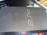 SONY PS2 HAS LEADS & CONTROLLER (THIRD PARTY)FULL 6 MONTHS WARRANTY