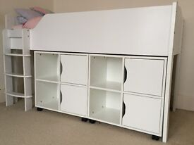 ASPACE cabin bed with under bed storage in excellent condition