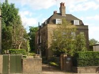 East Hill SW18: Spacious bedsit in elegant detached house, council tax, heating inc. (£162 pw)