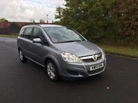2010 Vauxhall zafira exclusive 1.6 7 seater low miles