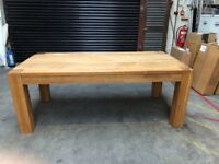 Solid oak table good quality chunky table house move reason for sale paid £1.500