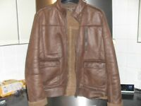 Mens brown suede jacket size large (excellent)