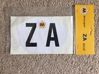 ZA - car sticker