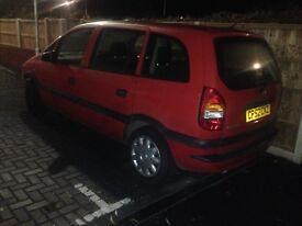 Vauxhall zafira repair shop or spairs