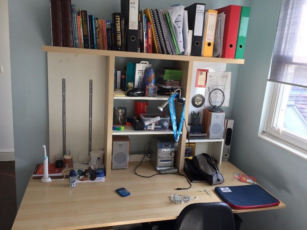 Ikea Study Desk And Computer Work Station Ideal For A Teenager S Bedroom