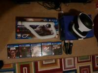 PSVR BUNDLE, Including controllers and games.