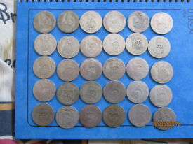 30 shillings silver(.500) George V,scrap/collect about 160 gram