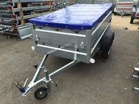 Faro Pondus BRAND NEW car box trailer with double side and flat cover