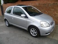 TOYOTA YARIS 1.3L 2003 REG, FULL MOT, VERY LOW MILEAGE ONLY 55,000 MILES TOP SPEC ALLOYS & AIR CON