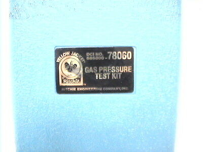 1 Used Ritchie Yellow Jacket Gas Pressure Test Kit 78060