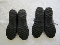 Two pairs of ladies genuine Hotter black/maroon comfort concept flats leather shoes UK size 5
