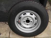 Caravan Spare Wheel & Tyre 175 R13C 4 Stud New Never Been Used