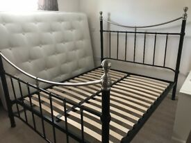 Victorian Style Black Metal Bed Frame. King Size.