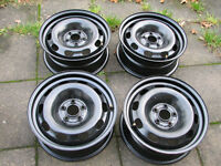 4 genuine vw GOLF steel rims 6jx15H2 ET38 5x100