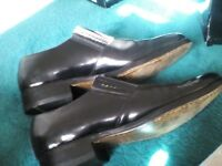 Hand made leather shoes by Samuel Windsor black