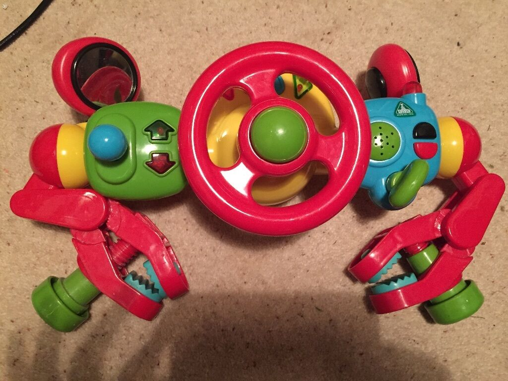ELC car seatpushchair steering wheel toy  in Whitchurch Cardiff