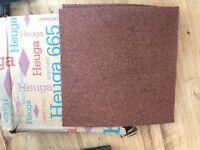 Carpet Tiles Heuga Brownie Pink Colour