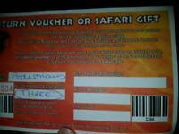 West Midlands safari park voucher