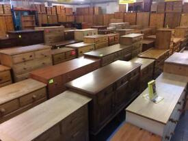 Quality used solid wood / pine chest of drawers & more