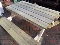 Bench style seats,picnic table