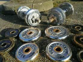Metal dumbbells 28kg