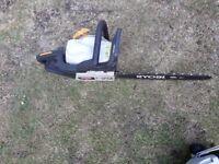 chain saw petrol ryobi plus garden vac plus hedge cutters