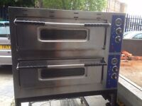 DOUBLE DECK PIZZA OVEN CATERING COMMERCIAL FAST FOOD RESTAURANT BAKERY KITCHEN SHOP