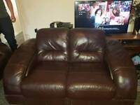 Brown 2 seater
