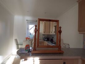 SOLID PINE MIRROR IN VERY GOOD CONDITION