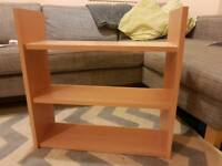 Three sets of shelves