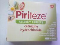 Piriteze allergy tablets. X 30, BRAND NEW IN BOX. BARGAIN