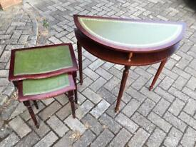 Stacking tables and side table Vintage