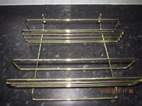Spice rack & Cook book holder for Rail in Brass - Attachments included