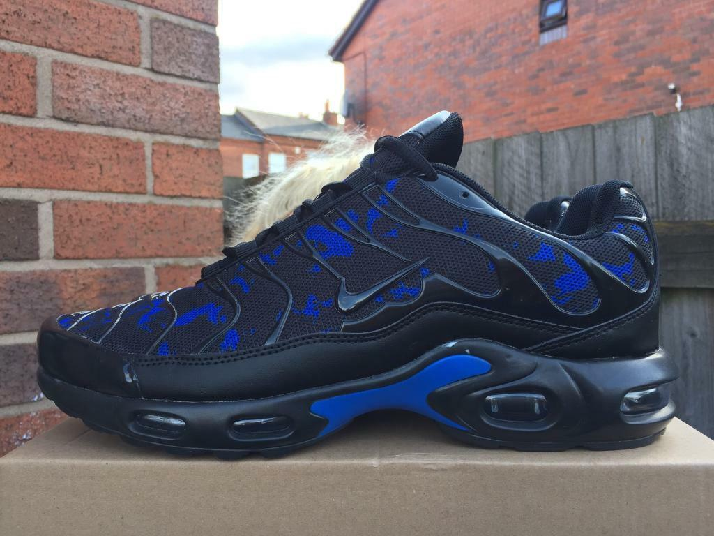 BRAND NEW NIKE AIR TNS PLUS BLACK AND BLUE ANY SIZE NIKE TRAINERS MAN AND KIDS GOOD D1854 | in Sandwell, West Midlands | Gumtree