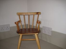 Vintage hand-made toy display chair