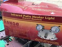 Infrared patio heater light